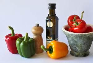 Papriky a olivový olej