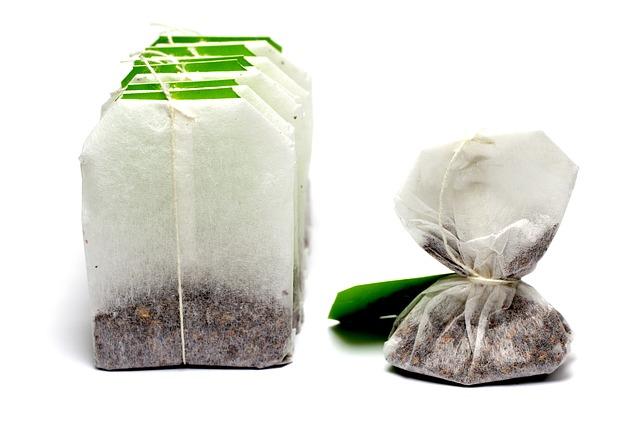 Sáček zeleného čaje nabitý antioxidanty