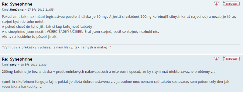 synefrin hodnocení
