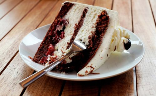 nezdravý dort