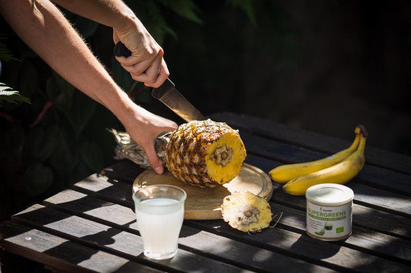 ananas a kokosové mléko
