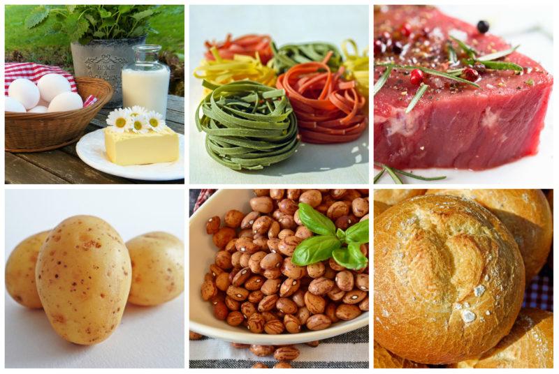 zdravé potraviny s obsahem makroživin