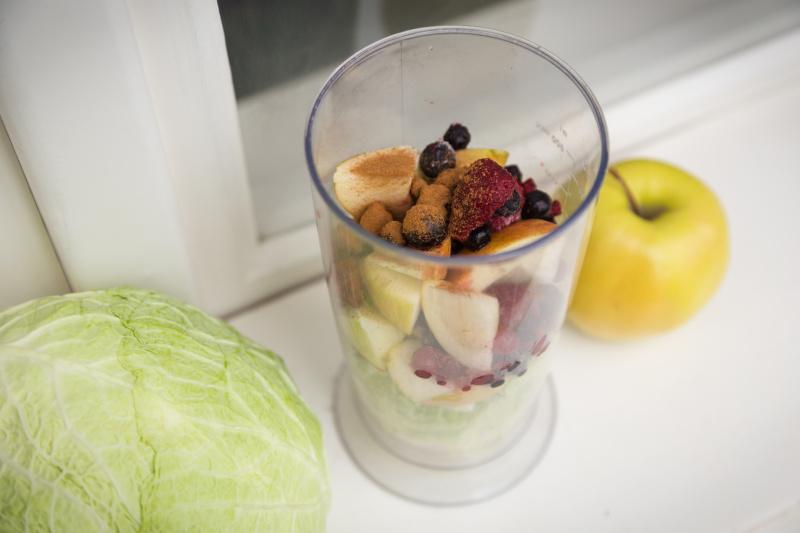skořicové smoothie s chia semínky