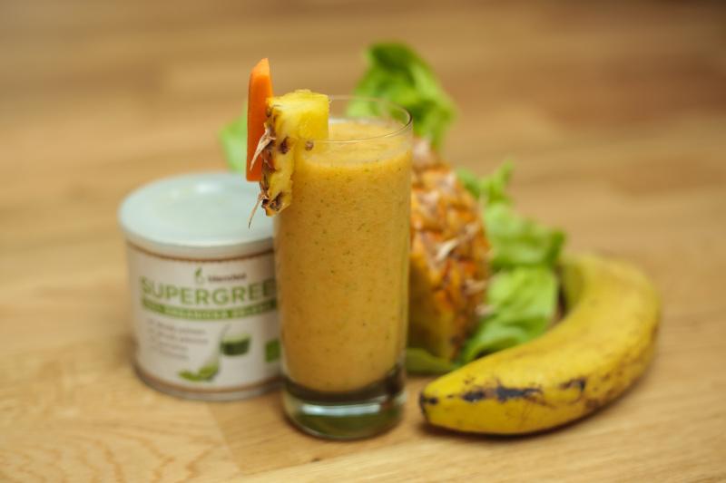 detoxikační ananasové smoothie
