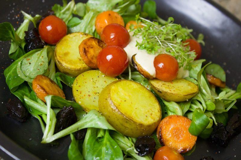 bramborový salát při dna dietě