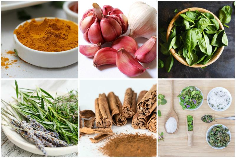 zdravé bylinky a kořeniny
