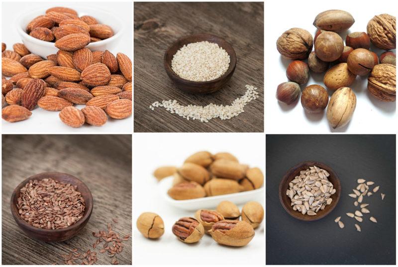 zdravé oříšky a semínka
