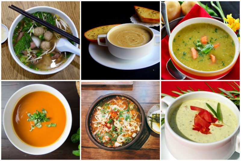 zdravé krémové polévky a vývary