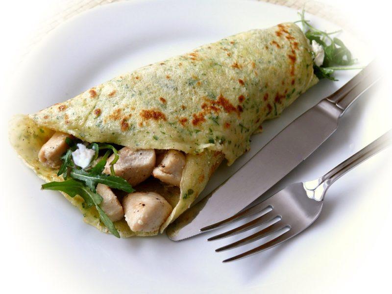 dietní omeleta s masem pro diabetiky