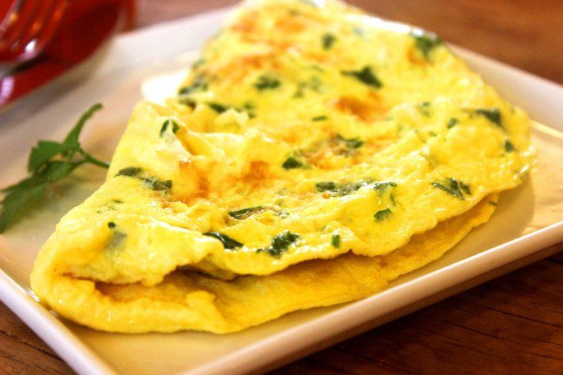 vaječná omeleta, zdroj bílkovin