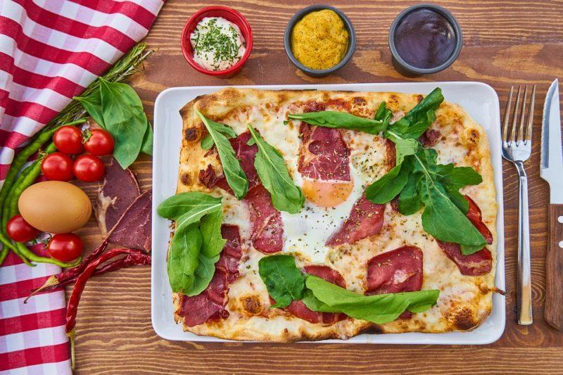 domácí proteinová pizza
