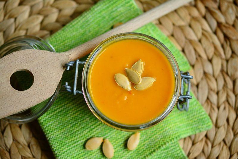 proteinová dýňová polévka