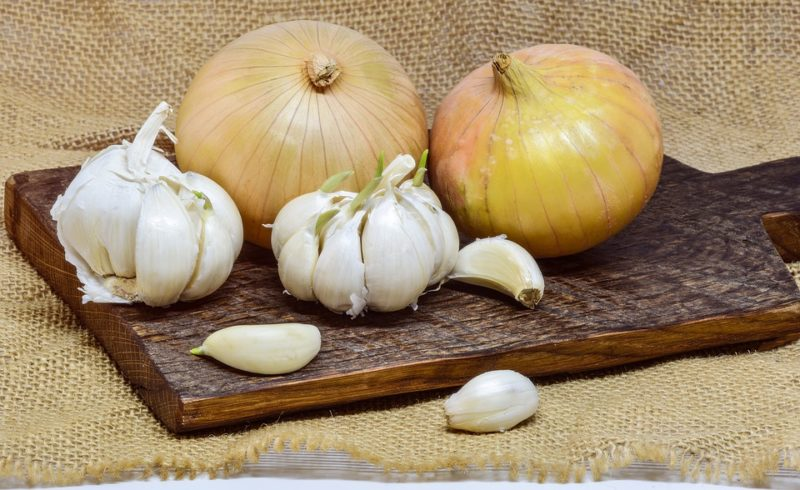 cibule a česnek během kojení