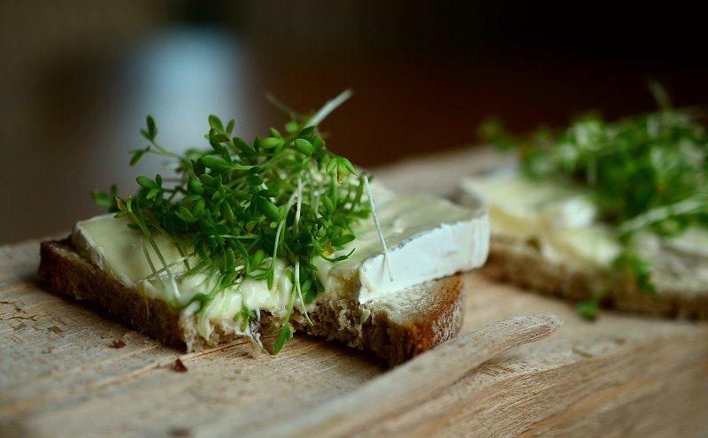 chleba se sýrem a bylinkami