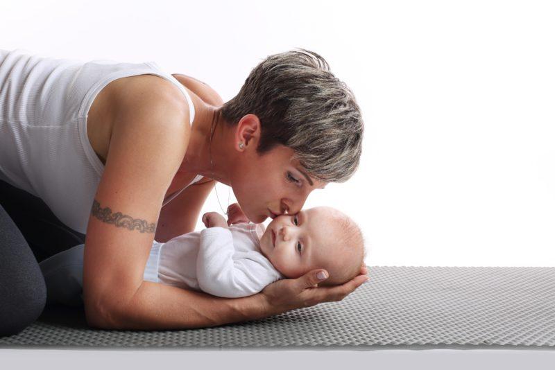 Lea Vršecká s děťátkem