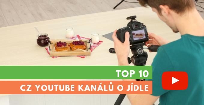 10 českých youtube kanálů o jídle