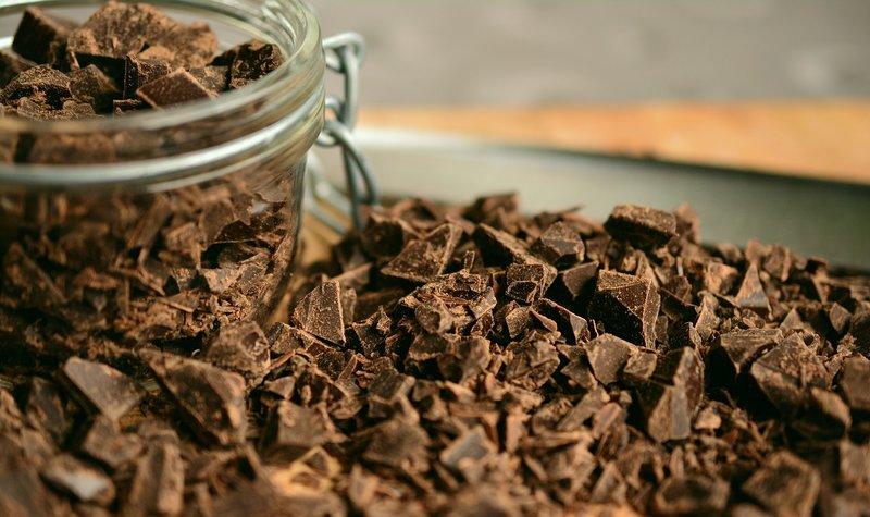 rozdrcená čokoláda