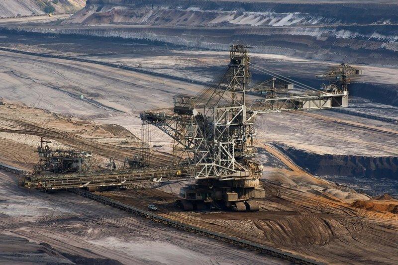 neekologická těžba hnědého uhlí