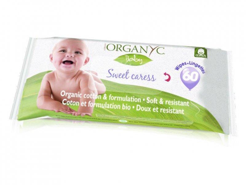 Organyc Dětské vlhčené hygienické ubrousky BIO (60 ks)