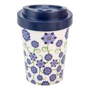 Woodway cup (300 ml) - Fialové květy