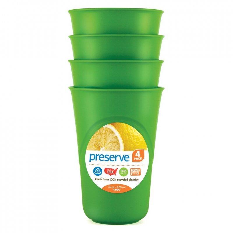 Preserve Sada pohárků (4 ks) - zelená