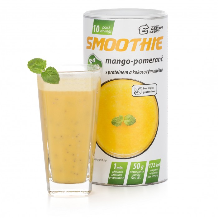 Restart Energy smoothie, mango-pomeranč