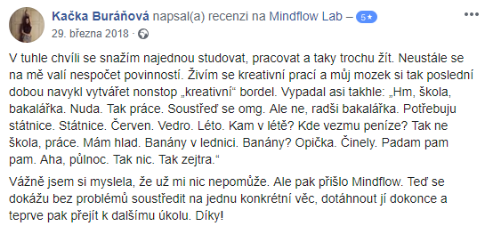 spokojné hodnocení mindflow