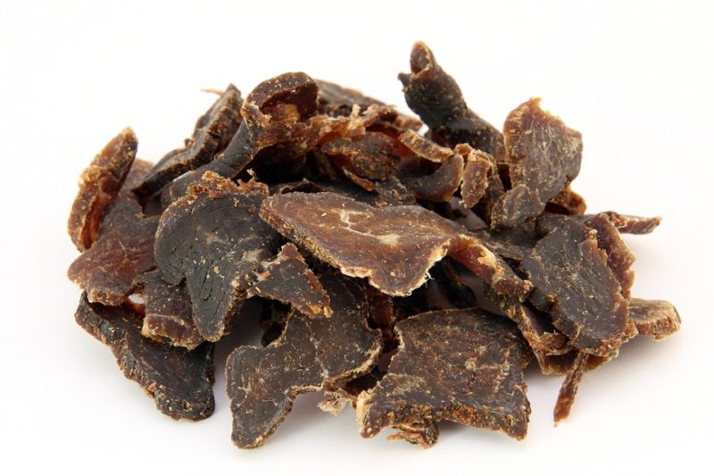 sušené hovězí maso, sušené jerky