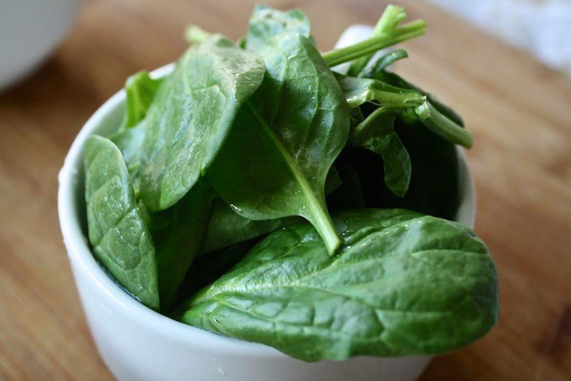 špenát jako zdroj sodíku