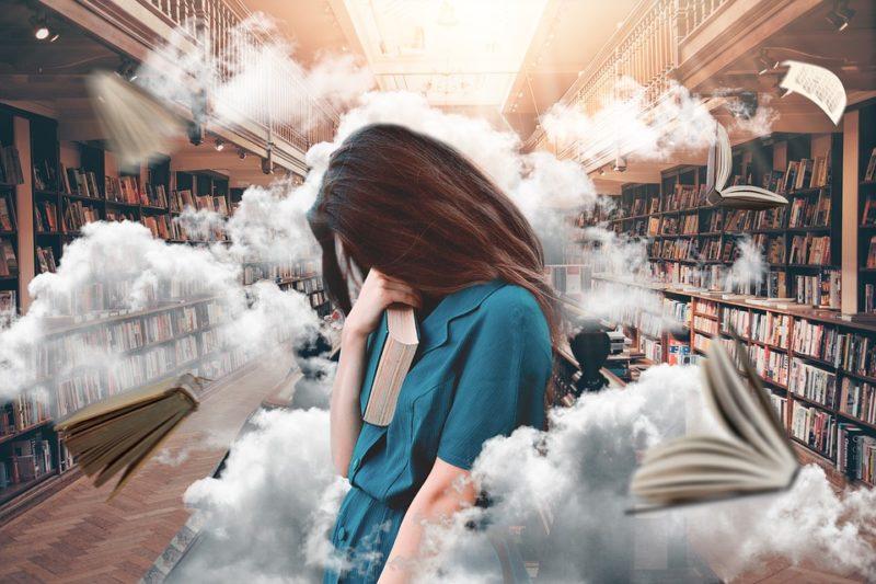 nesoustředěná žena ve stresu