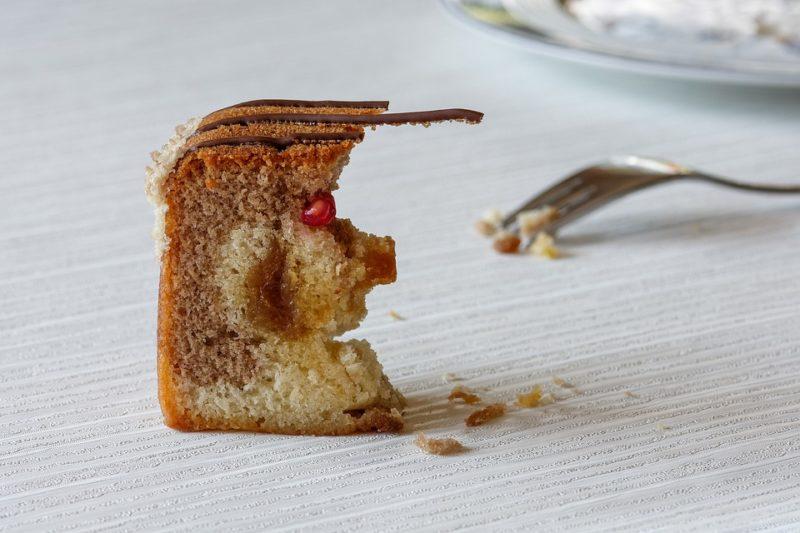 nezdravý koláč