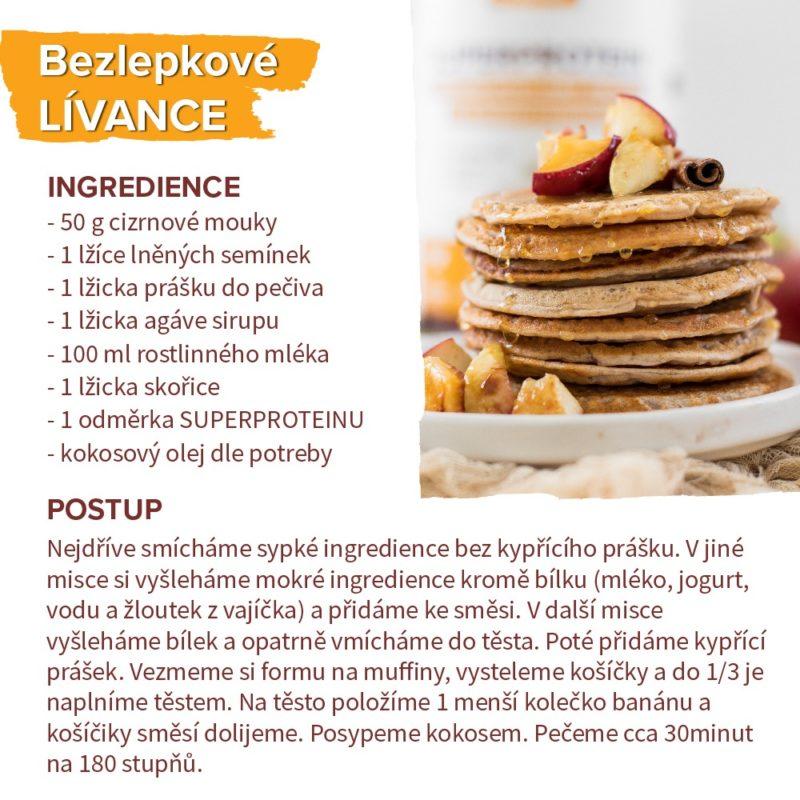 recept na bezlepkové proteinové lívance