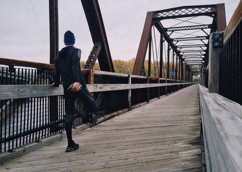 běh v zimě