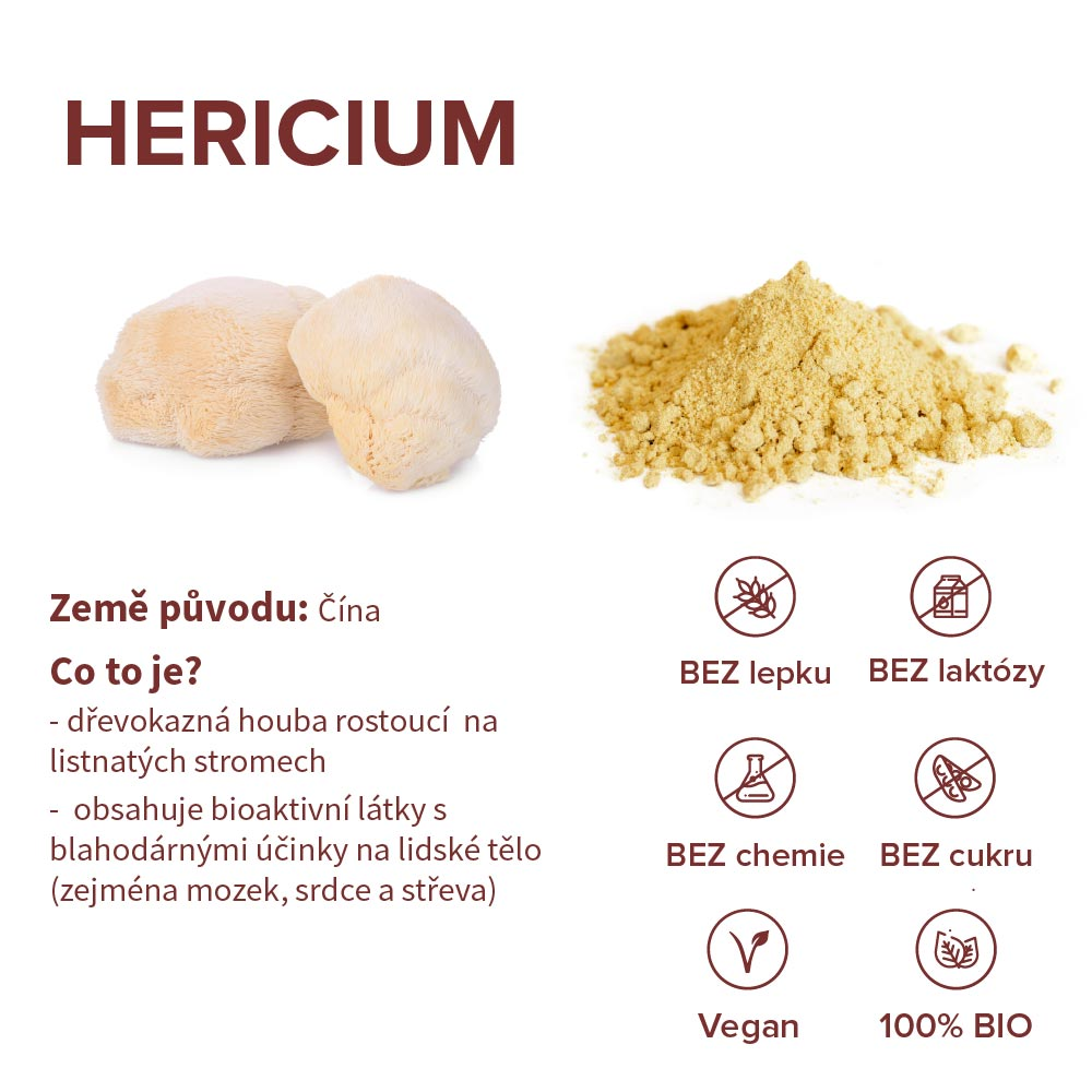 hericium zdravotní benefity
