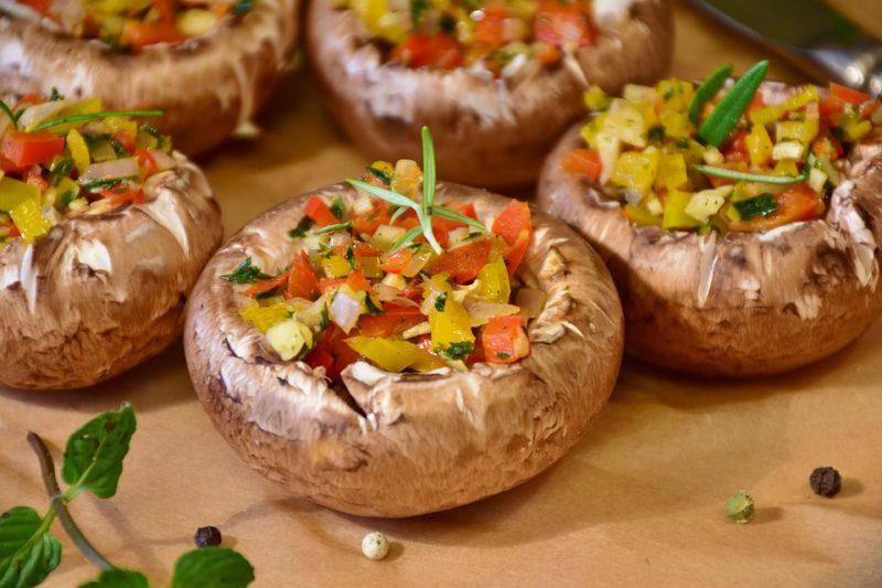 houby během vegetariánské keto diety