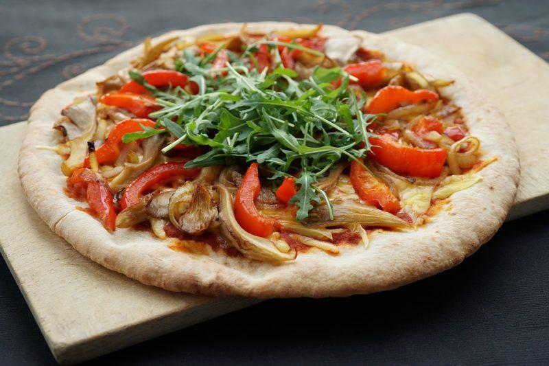 veganská pizza s hlívou ústřičnou