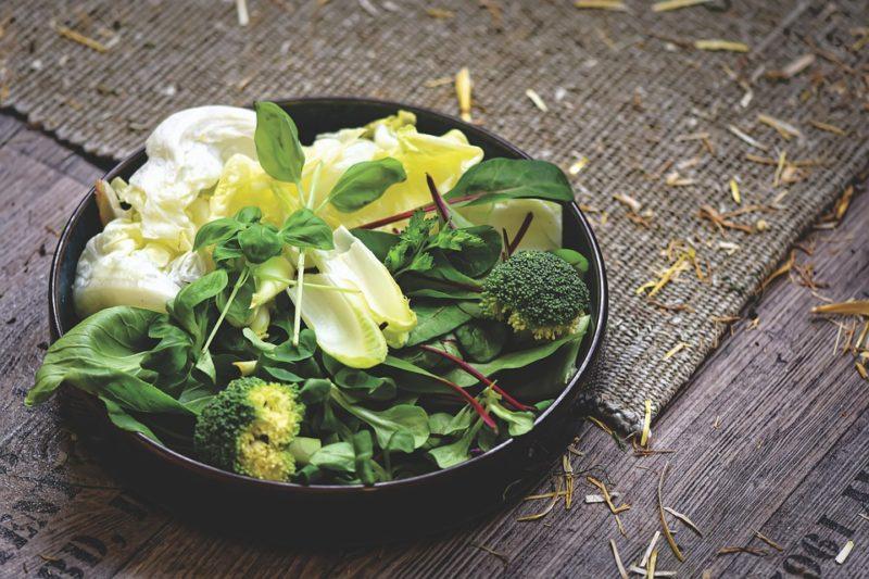 zelenina, zdroj vitamínu B9 - kyseliny listové
