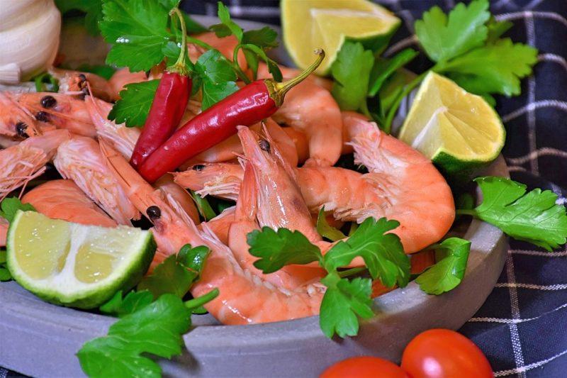 mořské plody během ketogenní diety