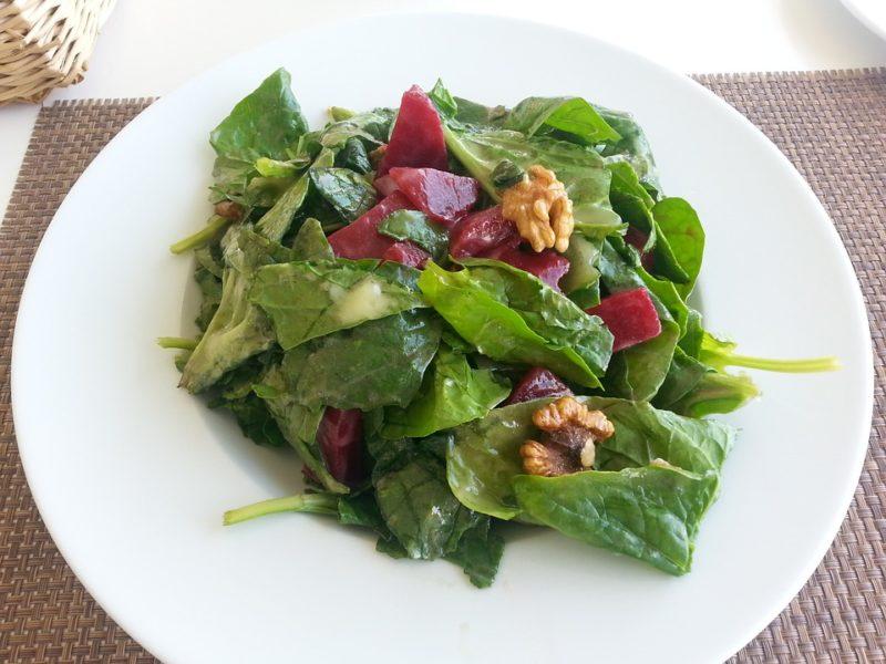 listová zelenina, zdroj kolagenu