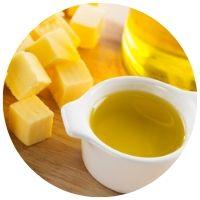 máslo a olivový olej během šetřící diety
