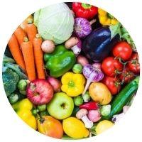 celé plody zeleniny