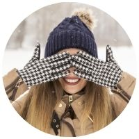 zimní rukavice na nehty