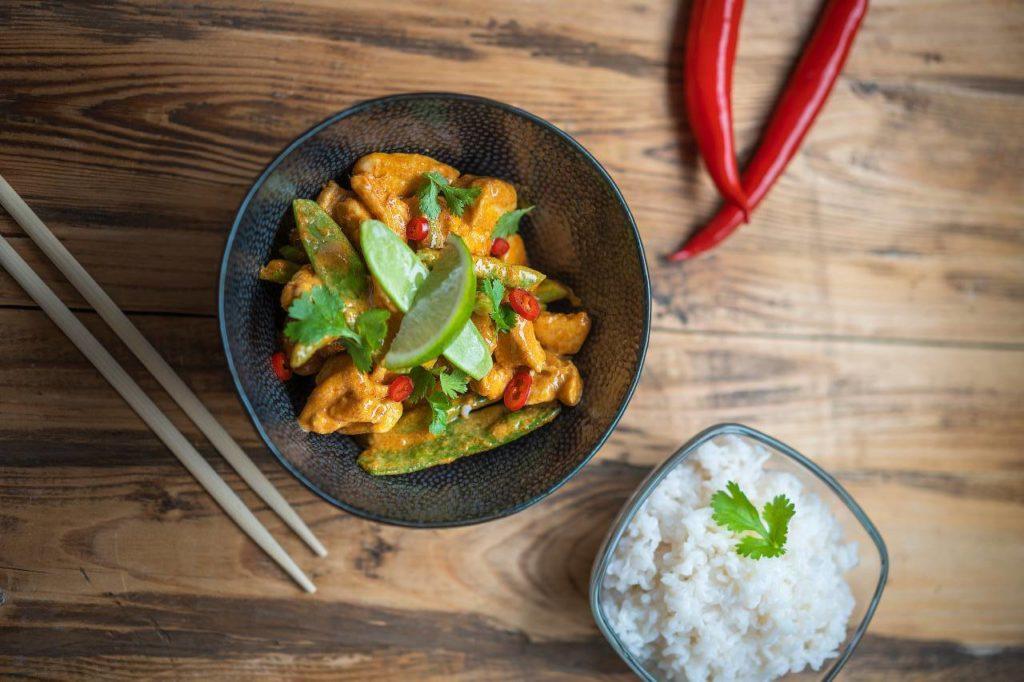 Konjaková rýže s thajským kari, Slim Pasta